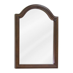 Hardware Resources - Hardware Resources Wood Mirror, Walnut - 22 in  x 30 in  Walnut reed-frame mirror with beveled glass