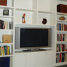 Modern Home Theater by Case & Space