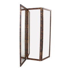 Faux Tortoiseshell Mirrored Screen - This mirror belongs in a glamorous walk-in closet.