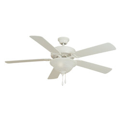 """Basic-Max-Indoor Ceiling Fan - The Basic-Max ceiling fan features the ability to be installed three different ways: close mount, standard stem, and optional stems up to 72"""" long."""