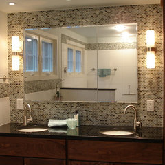 contemporary bathroom by d.schmunk interior design services