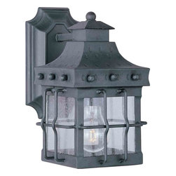 Maxim Lighting - Maxim Lighting 30081CDCF Nantucket Country Forge Outdoor Wall Sconce - 1 Bulb, Bulb Type: 100 Watt Incandescent