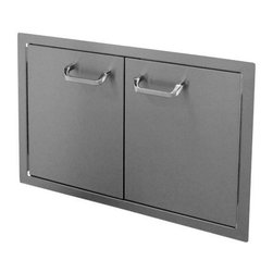 """HBI - Hasty-Bake 30"""" Stainless Steel Standard Double Access Doors (30DD-STD) - These doors feature sturdy 18 gauge all Stainless (304 grade material) single wall construction, trouble free hinges, and chrome plated handles. Flat bezel lays flush to cabinet surface. Available in numerous sizes.   Features:"""