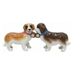 WL - 2.75 Inch Kitchenware Saint Bernard Puppies Salt and Pepper Shakers - This gorgeous 2.75 Inch Kitchenware Saint Bernard Puppies Salt and Pepper Shakers has the finest details and highest quality you will find anywhere! 2.75 Inch Kitchenware Saint Bernard Puppies Salt and Pepper Shakers is truly remarkable.