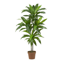 Nearly Natural - Dracaena Real Touch Silk Plant - Enhance the beauty of any room in your home or office with this silk dracaena plant. This plant is real to the touch and is completely maintenance free.