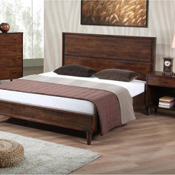 None - Vilas Queen-size Bed - Update the look of your room with this stylish queen-size bed from Vilas. This bed offers somewhat of an antiqued style with its tall headboard and elegant tapered legs. It includes 12 durable slats, so it can be used without a box spring.