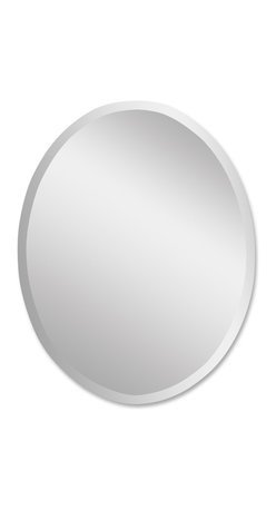 Uttermost - Uttermost Frameless Vanity Oval Mirror 19580 B - Polished edges for a smooth finish. May be hung either horizontal or vertical.