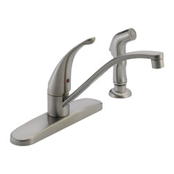 Delta Single Handle Kitchen Faucet - P188500LF-SS - With the full line of Delta(R) kitchen faucets, it's easy to find just the right touch for your kitchen.