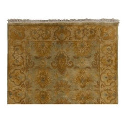 Surya Rugs - Temptress Sage Green Rug TMS-3003 Size: Runner 2' x 3' - 100% Wool. Style: Traditional. Rugs Size: 2' x 3'. Note: Image may vary from actual size mentioned.
