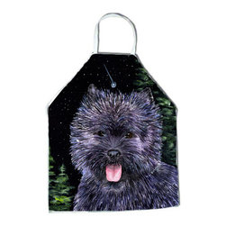 Caroline's Treasures - Starry Night Cairn Terrier Apron SS8494APRON - Apron, Bib Style, 27 in H x 31 in W; 100 percent  Ultra Spun Poly, White, braided nylon tie straps, sewn cloth neckband. These bib style aprons are not just for cooking - they are also great for cleaning, gardening, art projects, and other activities, too!