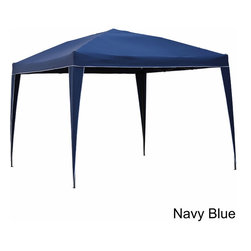 International Caravan - International Caravan Square Folding Gazebo - Take this convenient folding gazebo with you to your next picnic,tailgate party,or beach day,or give it a permanent setup in your yard. This 99 x 118 gazebo will keep you dry in inclement weather and provide much-needed shade on sunny days.