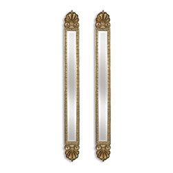 Uttermost - Uttermost 11202 B Juniper Antique Gold Mirrors Set of 2 - Uttermost 11202 B Juniper Antique Gold Mirrors Set of 2
