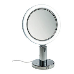 Smile - Smile Magnifying Mirror illuminated 7x - Smile. You know you need a German-engineered makeup magnifying mirror, whether you're an international actor of stage and screen, or just interested in looking your best. LED lighting, 7 times magnification and swivel action maneuverability make cleansing and makeup application a breeze.