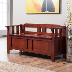Parker Storage Bench - Dark Oak