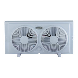 7-inch Twin Window, Rain-Resistant Fan