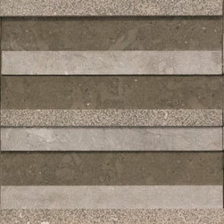Terra Limestone Portugal Collection - Terra tiles come in three patterns of alternating honed, brushed and sandblasted stone pieces and are available in a flat or dimensional face. The color is a neutral earthy beige.