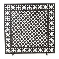 """Arteriors - Arteriors Home - Houston Screen - 4209 - Our fascination with the charm of antique furnace grates led us to design an iron fire screen that joins two classic motifs together in one gemoetrically chic fire screen. Finished in antique black. Decorative use only. Features: Houston. Collection: Screen Antique Black Finish Some Assembly Required. Dimensions: W: 34"""" x D: 7"""" x H: 35"""""""