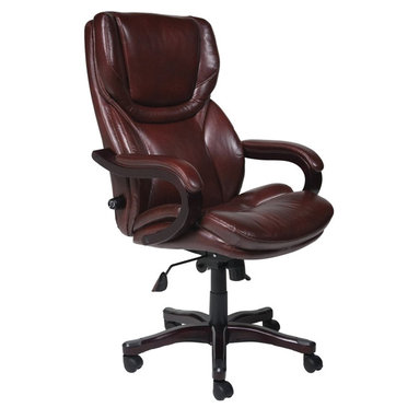 Serta by True Innovations - Serta Executive Office Chair in Brown Bonded Leather - Serta by True Innovations - Office Chairs - 43506 - About This Product: