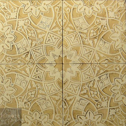 Floral Moresque - Add visual and tactile texture to your walls or floors with these lovely low relief tiles.