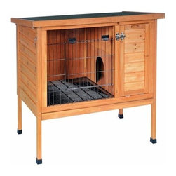 """Small Rabbit Hutch - Prevue Pet Products Small Rabbit Hutch Provides Your Rabbit With A Safe, Secure Hutch That They Will Be Happy To Call Home.   Our Small Rabbit Hutch Has An Open Floor Plan That Connects To An Adjoining, Private Nesting Box. The Rabbit Hutch Is Elevated From The Ground And Includes A Fold-Down Ramp So That Your Rabbit Can Easily Hop Up To His Home. The Bottom Legs Have Rubber Feet To Prevent Splintering If Used Outside Or Scuffing Your Floors If Used Inside.   The Hutch Is Crafted From A Fine Weather-Resistant Variety Of Fir Tree Lumber And Is Coated With A Protective, Non-Toxic Stain. This Rabbit Hutch Also Features A Water-Resistant Roof Made Of Asphalt Shingles And Is Designed To Protect Your Pet From Inclement Weather.   Removable Interior Divider Walls, A Fold-Down Entry Ramp Plus A Foot-Friendly Removable Bottom Grille. Additional Security Features Include A Lid Latch And Double Door Locks On The Front Wire Cage Door. Ideal For Multiple Small Rabbits, Up To 15 Lbs. Or 1 Large Rabbit.   Features:  *Overall Dimensions: 36"""" Wide X 24"""" Deep X 35 1/2"""" High *Hutch Only Dimensions: 31.5"""" Wide X 20"""" Deep X 20"""" High *Double Door Locks For Extra Security *Lid Fully Opens And Features A Locking Hinge *Wire Front Door *Weather-Resistant Fir *Non-Toxic Stain *Removable Bottom Grille In A Foot-Friendly Design *Asphalt Shingles Water-Resistant Top Is Designed To Protect Pet From Inclement Weather *Shipped Insured *Brand New"""