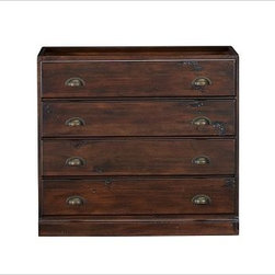 Printer's Double 2-Drawer Lateral File Cabinet, Tuscan Chestnut stain - Bring organization to ...