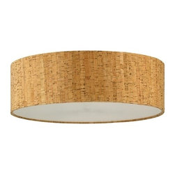 Design Classics Lighting - Cork Drum Lamp Shade - SH9472DIF - Do you want to bring a bit pizzazz to your home decor? Check out this drum cork shade from Design Classics Lighting. Crafted of natural cork, it features a heavily textured surface that will help transform your room from ordinary to extraordinary in a moment. Its earthly glamour is able to bring a unique flair to any modern, contemporary, or eclectic setting. The shade is so beautiful that it can even uplift an ordinary lamp base too. With 5-inch slope, its dimensions are 16-inch top width by 16-inch bottom width. It has a spider fitter and comes with an off-white acrylic diffuser. Dry location rated.