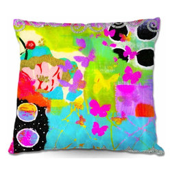 DiaNoche Designs - Pillow Woven Poplin - Fun With Glitter - Toss this decorative pillow on any bed, sofa or chair, and add personality to your chic and stylish decor. Lay your head against your new art and relax! Made of woven Poly-Poplin.  Includes a cushy supportive pillow insert, zipped inside. Dye Sublimation printing adheres the ink to the material for long life and durability. Double Sided Print, Machine Washable, Product may vary slightly from image.