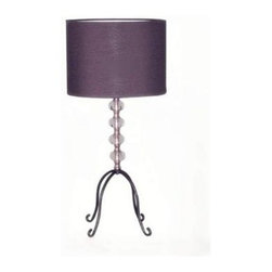 Simple Designs - Black Table Lamp: 17 in. Black Four Hook Stacked Ball Bead Lamp LT2018-BLK - Shop for Lighting & Fans at The Home Depot. This fashionable table lamp, with its four hook stacked ball base and black fabric shade, will add style and pizazz to any room. Perfect for living rooms, bedrooms, kids rooms, offices, or college dorms. We believe that lighting is like jewelry for your home. Our products will help to enhance your room with chic sophistication.