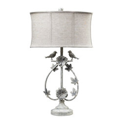 Dimond Lighting - Dimond Lighting Saint Louis Heights 2 Birds Iron Table Lamp - 2 Birds Iron Table Lamp belongs to Saint Louis Heights Collection by Dimond Lighting Lamp (1)