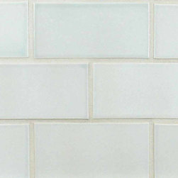 """Glass Tile Oasis - Seafoam 3"""" x 6"""" Green Tapestry Handmade Tile Glossy Ceramic - Tile Size:  3"""" x 6""""        Tile thickness:  1/4""""        Handcrafted Ceramic Tile-8 pieces per Sq. Ft.       Sold by the square foot        -  Shade and size variations are inherent characteristics in all handcrafted ceramic tile. Orders ship within 2-3 weeks."""