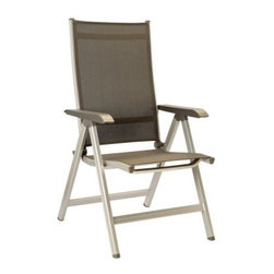 "Kettler Basic Plus Folding Chair - Relax on your patio, backyard or garden on the Kettler Basic Plus Folding Side Chair and enjoy the pleasant sights and sounds of nature. This foldable chair features a high quality, powder-coated aluminum frame with stainless steel joints and quick-drying sling Textilene seat and back. Apart from durability, this aluminum and sling construction makes this chair light-weight, making it easy for you to move it around. Foot glides on the chair protect the flooring as well as the chair.About Kettler ProductsThis item is manufactured by Kettler. Throughout the world, Kettler is a leading brand in leisure furniture, sports and fitness equipment, table tennis tables, bicycles, and children's outdoor toys. Since 1949, the company has grown from a small enterprise in Heinz Kettler's home town of Ense-Parsit in Germany into a world-wide manufacturing and marketing organization. Heinz Kettler has always remained true to the """"Made in Germany"""" quality principle and it is still the central pillar of the company's management philosophy. This means that even after 50 years of trading all over the world, most of the factories, and particularly the most important ones, are still in Germany."