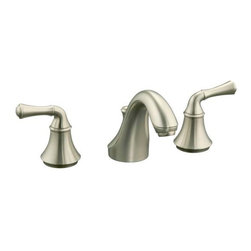 KOHLER - KOHLER Forte Widespread Bathroom Sink Faucet with Traditional Lever Handles - KOHLER K-10272-4A-BN Forte Widespread Bathroom Sink Faucet with Traditional Lever Handles in Vibrant Brushed Nickel