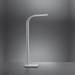 Illiria floor, design by Ernesto Gismondi - 2011 - Floor standing luminaire for direct, indirect LED lighting.