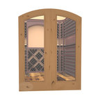CellarSelect™ Wine Cellar Door: French Bordeaux (Oak Stain with Lacquer) - Showcase the unique beauty of your wine cellar with French Bordeaux arched doors. Features impressive eyebrow arched design, solid jamb and decorative casings. Exterior grade components like insulated low-E glass help seal your cellar and keep your wine at ideal temps. Hand made in the USA.