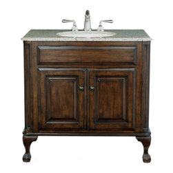 Cole + Co. - Cole + Co. 37W x 22D in. Stone Vanity Top Multicolor - 12.18.220637.21 - Shop for Bathroom Counter Tops from Hayneedle.com! Enhance your bathroom with the expansive and timeless stylings of the Cole + Co. 37W x 22D in. Stone Vanity Top exclusively designed for Cole and Co. Vanity cabinets. Sealed for added durability this luxurious vanity top with double ogee edging comes in your choice of bella crema marble midnight black granite Sahara beige granite and Sherwood green granite. Every option is custom-made from natural material and hand-cut with an oval 17L x 14W sink cut-out that includes undermount clips for easy installation. Speaking of which the attractive top is also pre-drilled so you can effortlessly add the finishing touch of an 8-inch widespread faucet! The Cole + Co. vanity top measures 37W x 22D x 0.75H inches and is backed by a 1-year limited manufacturer's warranty. Try pairing it with one of the many fine Cole and Co. sinks such as white ceramic hammered copper or scalloped copper for an absolutely breathtaking presentation. About Cole + Co. Cole + Co. has the expertise and knowledge to effortlessly marry functionality with style taking the painstaking difficulty out of finding extraordinary pieces for the bathroom. Wood solids such as elm alder and pine are combined with birch cherry and aspen veneers for a truly custom and unique look. Currently available across the United States and Canada Cole + Co.'s vanity units and accessories are moderately priced for the architect home builder designer and consumer.