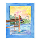 Oh How Cute Kids by Serena Bowman - Fishing, Ready To Hang Canvas Kid's Wall Decor, 8 X 10 - Every kid is unique and special in their own way so why shouldn't their wall decor be so as well! With our extensive selection of canvas wall art for kids, from princesses to spaceships and cowboys to travel girls, we'll help you find that perfect piece for your special one.  Or fill the entire room with our imaginative art, every canvas is part of a coordinating series, an easy way to provide a complete and unified look for any room.