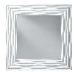 Murray Feiss - Murray Feiss MR1200HGW Onda Mirror - Modern Contemporary Mirror in HI Gloss White with Clear glass from the Onda Collection by Murray Feiss.