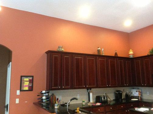 currently a burnt orange need paint ideas. Black Bedroom Furniture Sets. Home Design Ideas