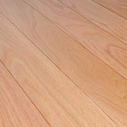 "Jasper - Jasper Hardwood - Northern Red Oak Collection - [20.0 sq ft/box] - Select & Better / 3 1/4"" / Semi-Gloss -Jasper hardwood flooring is made exclusively from quality northern lumber. Jasper's tradition of manufacturing excellence is an integral part of every Jasper wood flooring product. All hardwood from Jasper is precision-milled, subject to stringent quality controls and dried in state-of-the-art kilns.    This line of stained red oak has a smooth surface that is bolstered by an OXYLUST + Exclusive aluminum oxide finish. This finish offers superior wear resistance over the competition in addition to limiting bacteria and mold proliferation through the use the antimicrobial agent Ultra-Fresh��.     All Jasper flooring is 3/4"" thick. Jasper flooring meets and exceeds NOFMA grading. It is tongue and groove and comes with a 35 year warranty against manufacturing / structural defects - Folk grade is exclusive of this warranty."