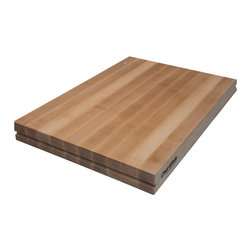 "ChefBords Professional Kitchen Surfaces - ChefBords 18"" x 24"" Professional Maple Cutting Surface - The ChefBörds 18""×24"" Professional Series cutting board is our mid-sized offering designed to fit on residential counters but also provide a significant working area for more demanding tasks. At 24"" length, versatility is the priority. This ChefBörd is the perfect sized board for virtually all culinary tasks ranging from typical knife work and presentation tasks to many pasta and bread preparation tasks."