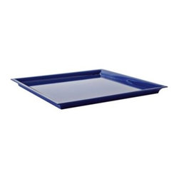 "Serena & Lily - Grand Lacquered Tray Navy (24"" SQ) - Luscious lacquer brings on the drama in spades. Grand in size, this is the perfect centerpiece for an ottoman, coffee table or dining table. A high-gloss finish makes it practically indestructible."