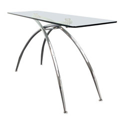 Mid-Century Modern Console Table - Dimensions 58.0ʺW × 18.0ʺD × 30.5ʺH