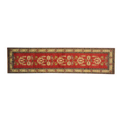 1800-Get-A-Rug - Tribal and Geometric Kazak Rug Runner Red Hand Knotted 100% Wool Sh16550 - Our Tribal & Geometric hand knotted rug collection, consists of classic rugs woven with geometric patterns based on traditional tribal motifs. You will find Kazak rugs and flat-woven Kilims with centuries-old classic Turkish, Persian, Caucasian and Armenian patterns. The collection also includes the antique, finely-woven Serapi Heriz, the Mamluk Afghan, and the traditional village Persian rug.