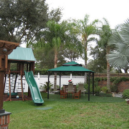 Residential Pyramid Canopies- Poolside Canopies - Awning Works Inc.