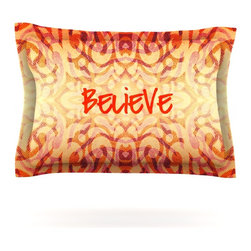 "Kess InHouse - Caleb Troy ""Tattooed Believer"" Pillow Sham (Cotton, 30"" x 20"") - Pairing your already chic duvet cover with playful pillow shams is the perfect way to tie your bedroom together. There are endless possibilities to feed your artistic palette with these imaginative pillow shams. It will looks so elegant you won't want ruin the masterpiece you have created when you go to bed. Not only are these pillow shams nice to look at they are also made from a high quality cotton blend. They are so soft that they will elevate your sleep up to level that is beyond Cloud 9. We always print our goods with the highest quality printing process in order to maintain the integrity of the art that you are adeptly displaying. This means that you won't have to worry about your art fading or your sham loosing it's freshness."