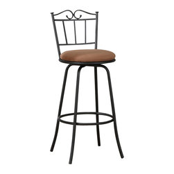 Poundex - Poundex Adjustable Swivel Barstool in Black (Set of 2) - Poundex - Bar Stools - F1481 - Whether it's a glass of wine or cup of tea both you and your guests will enjoy sipping while enjoying this European-style set. Featuring smooth strong lines cushy swivel seats and a strong supportive seatback this piece is designed to bring a touch of elegance to your casual moments.