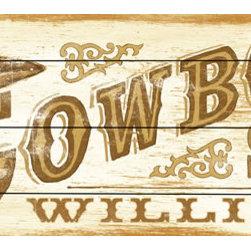 RR - Cowboy Vintage Wood Sign - Cowboy Vintage Wood Sign