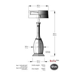 Bella - Specs of our Bella Petit heater with Smooth Shade. By Kindle Living.