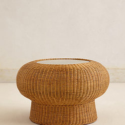 Wicker Pedestal Table - This wicker pedestal table is equally perfect for indoors and out.