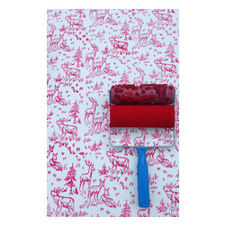 NotWallpaper - Patterned Paint Roller and Applicator, Aspen Frost - Patterned Paint Roller and Applicator combo set
